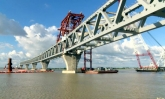 2.5 km of Padma Bridge visible